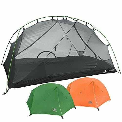 Hyke & Byke 1 Person Backpacking Tent with Footprint