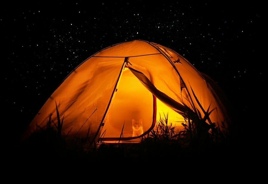 How to Heat a Tent with Candle